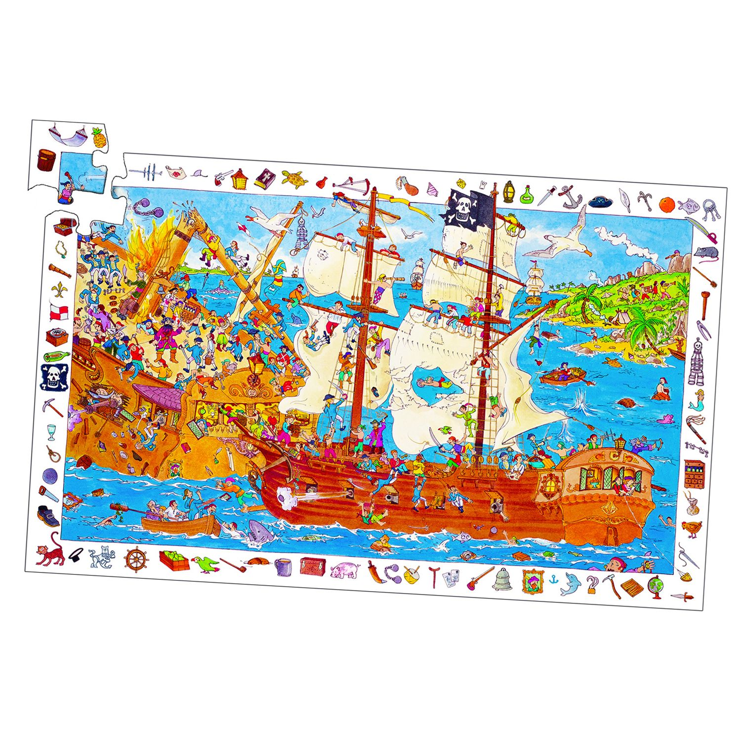 Comparatif puzzle djeco pirate
